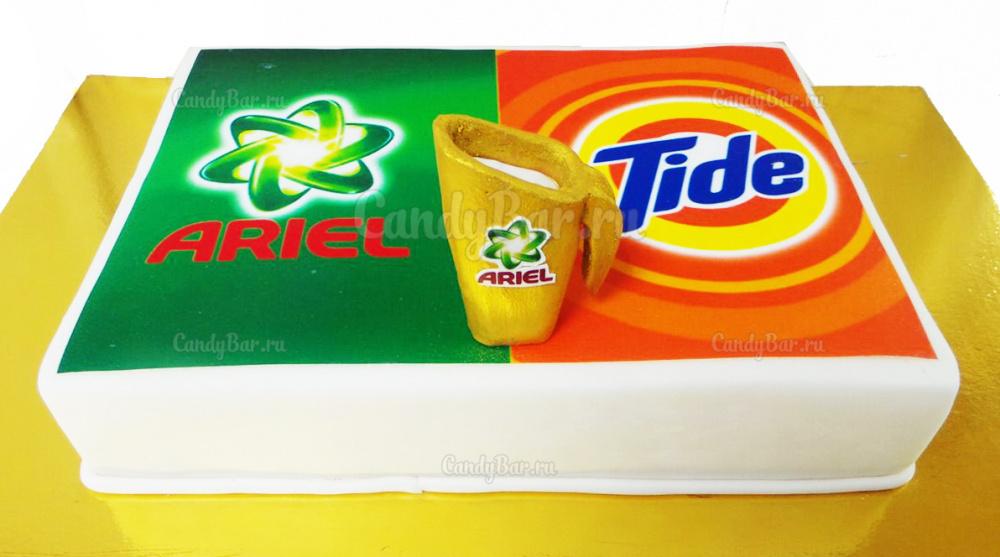 Торт с логотипом Ariel vs Tide
