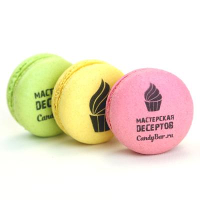 Макаруны с логотипом для компании на заказ в Москве - Мастерская десертов CandyBar